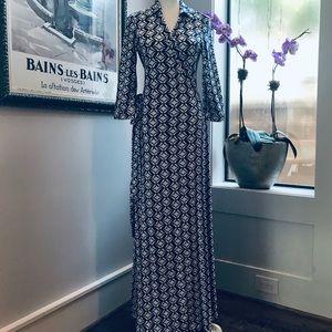 Diane Von Furstenberg Wrap Maxi Dress